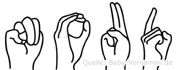 Noud im Fingeralphabet der Deutschen Gebärdensprache