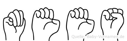 Mees im Fingeralphabet der Deutschen Gebärdensprache