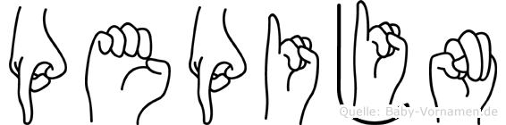 Pepijn im Fingeralphabet der Deutschen Gebärdensprache