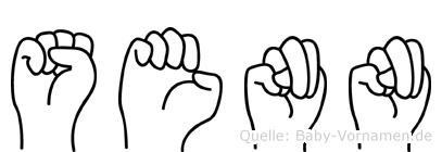 Senn im Fingeralphabet der Deutschen Gebärdensprache