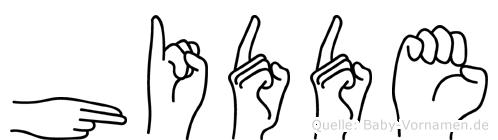 Hidde im Fingeralphabet der Deutschen Gebärdensprache