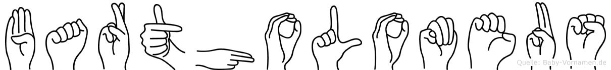 Bartholomeus im Fingeralphabet der Deutschen Gebärdensprache