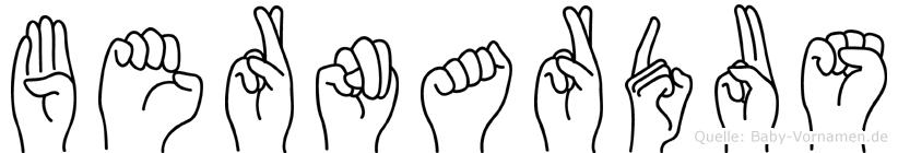 Bernardus im Fingeralphabet der Deutschen Gebärdensprache