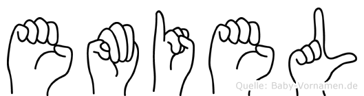 Emiel im Fingeralphabet der Deutschen Gebärdensprache