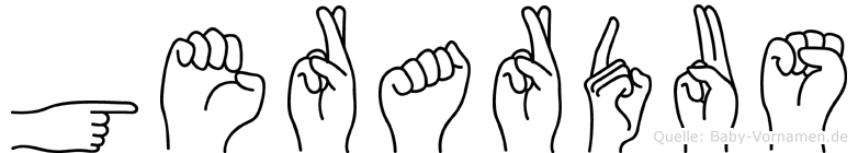Gerardus im Fingeralphabet der Deutschen Gebärdensprache