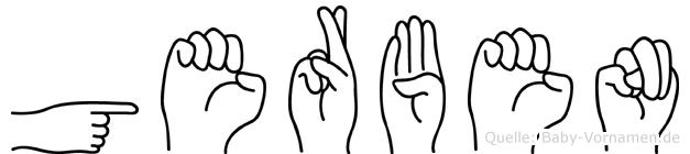Gerben im Fingeralphabet der Deutschen Gebärdensprache