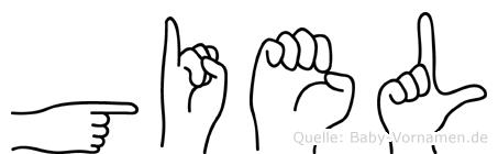 Giel im Fingeralphabet der Deutschen Gebärdensprache