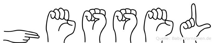 Hessel im Fingeralphabet der Deutschen Gebärdensprache
