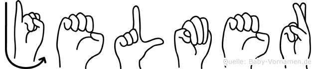 Jelmer im Fingeralphabet der Deutschen Gebärdensprache
