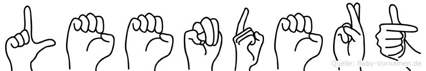 Leendert im Fingeralphabet der Deutschen Gebärdensprache