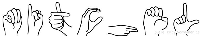 Mitchel im Fingeralphabet der Deutschen Gebärdensprache