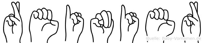 Reinier im Fingeralphabet der Deutschen Gebärdensprache