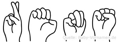 Rens im Fingeralphabet der Deutschen Gebärdensprache