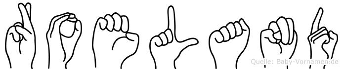 Roeland im Fingeralphabet der Deutschen Gebärdensprache