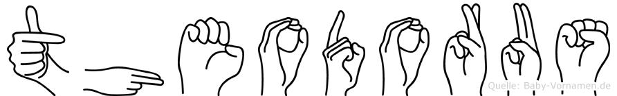 Theodorus im Fingeralphabet der Deutschen Gebärdensprache