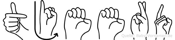 Tjeerd im Fingeralphabet der Deutschen Gebärdensprache