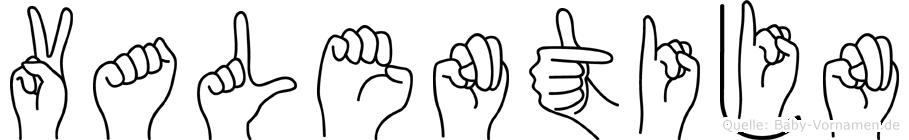 Valentijn im Fingeralphabet der Deutschen Gebärdensprache