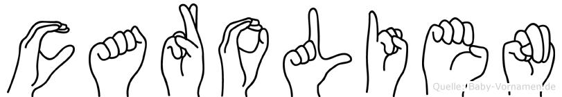 Carolien im Fingeralphabet der Deutschen Gebärdensprache