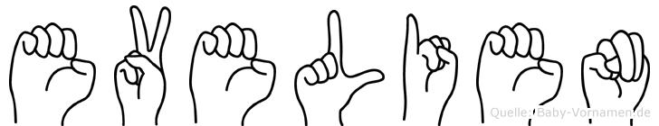 Evelien im Fingeralphabet der Deutschen Gebärdensprache