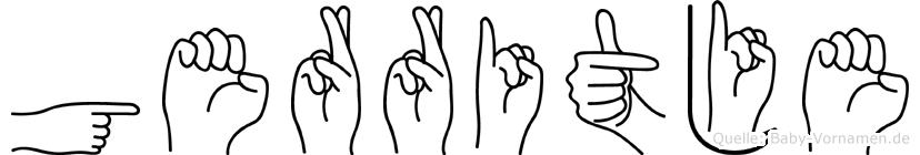 Gerritje im Fingeralphabet der Deutschen Gebärdensprache