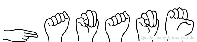 Hanane im Fingeralphabet der Deutschen Gebärdensprache