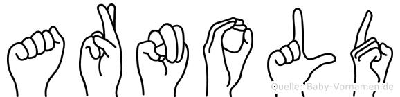 Arnold im Fingeralphabet der Deutschen Gebärdensprache