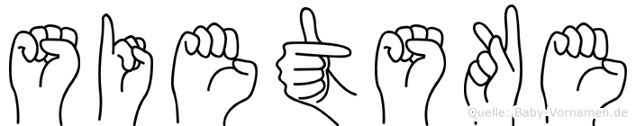 Sietske im Fingeralphabet der Deutschen Gebärdensprache