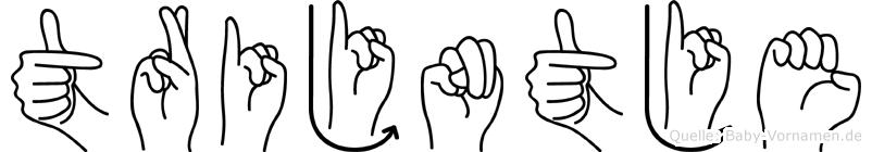 Trijntje im Fingeralphabet der Deutschen Gebärdensprache