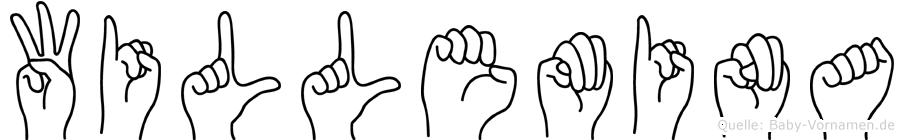 Willemina im Fingeralphabet der Deutschen Gebärdensprache