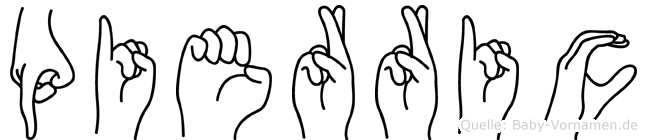 Pierric im Fingeralphabet der Deutschen Gebärdensprache