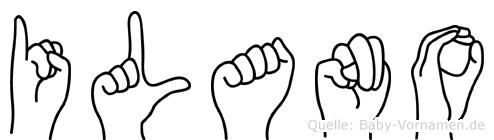 Ilano im Fingeralphabet der Deutschen Gebärdensprache