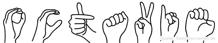 Octavie im Fingeralphabet der Deutschen Gebärdensprache