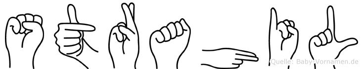 Strahil im Fingeralphabet der Deutschen Gebärdensprache