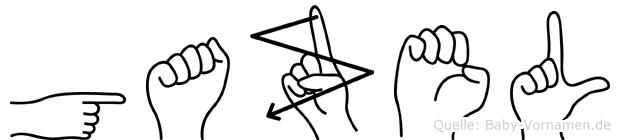 Gazel im Fingeralphabet der Deutschen Gebärdensprache