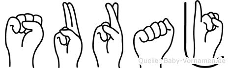 Suraj im Fingeralphabet der Deutschen Gebärdensprache