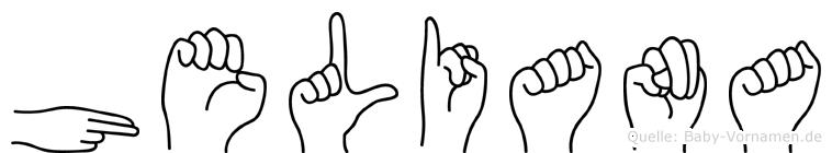 Heliana im Fingeralphabet der Deutschen Gebärdensprache