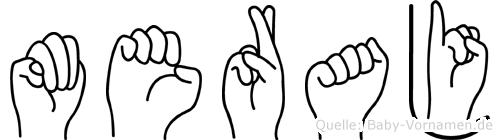 Meraj im Fingeralphabet der Deutschen Gebärdensprache