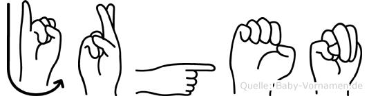 Jörgen im Fingeralphabet der Deutschen Gebärdensprache