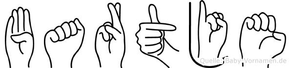 Bartje im Fingeralphabet der Deutschen Gebärdensprache