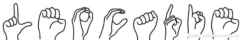 Leocadie im Fingeralphabet der Deutschen Gebärdensprache