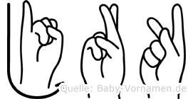 Jörk in Fingersprache für Gehörlose
