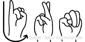 Jörn in Fingersprache für Gehörlose