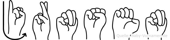 Jörnsen in Fingersprache für Gehörlose