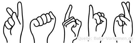 Kadir in Fingersprache für Gehörlose