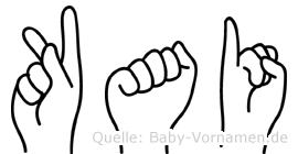 Kai in Fingersprache für Gehörlose