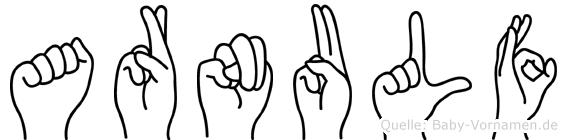 Arnulf in Fingersprache für Gehörlose