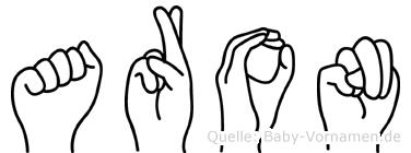 Aron in Fingersprache für Gehörlose