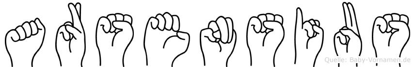 Arsensius in Fingersprache f�r Geh�rlose