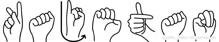 Kajetan in Fingersprache für Gehörlose
