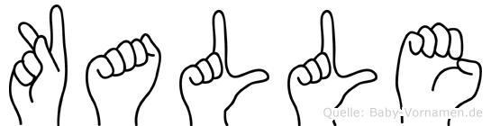 Kalle in Fingersprache für Gehörlose